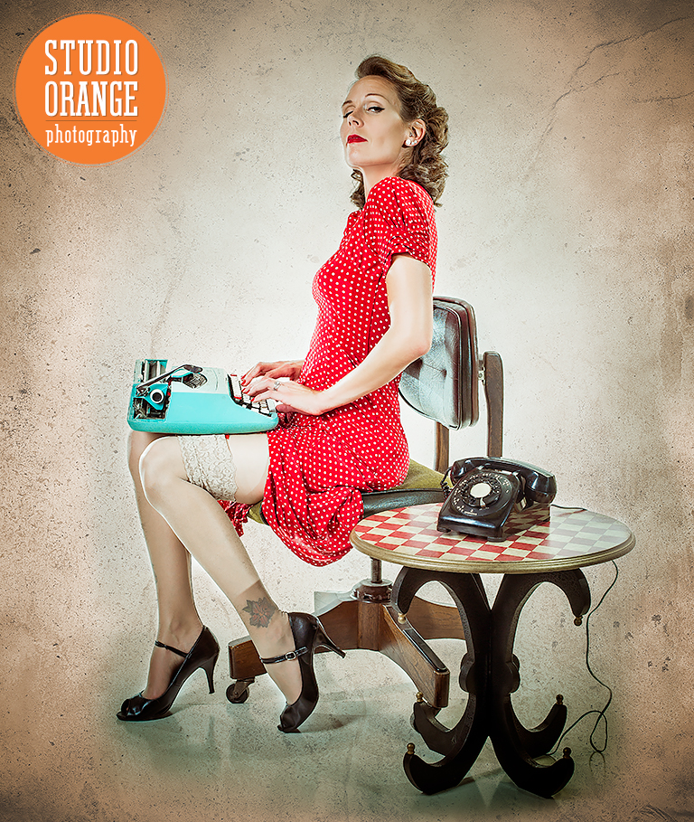 Pinup style photography in Lincoln, Nebraska